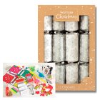 Waitrose Christmas Silver Crackers - 12s
