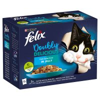 PURINA® FELIX® As Good As It Looks Doubly Delicious Adult Cat Fish Selection in Jelly Wet Cat Pouch