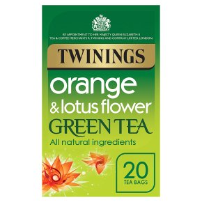 Twinings 20 tea bags green tea orange & lotus flower