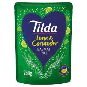 Tilda lime & coriander steamed basmati rice