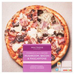 Waitrose hand stretched mushroom, bacon & mascarpone pizza