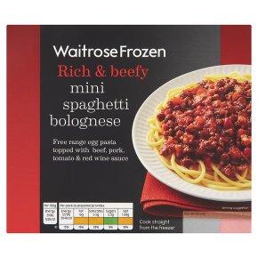 Waitrose Frozen mini spaghetti bolognese