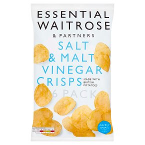 essential Waitrose salt & malt vinegar crisps