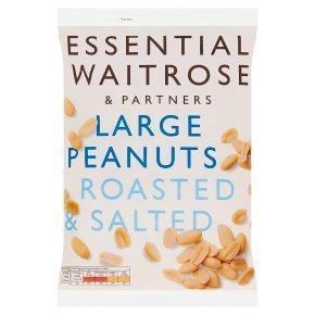 essential Waitrose large roasted & salted peanuts
