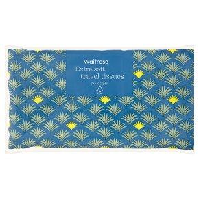 Waitrose soft white travel tissues