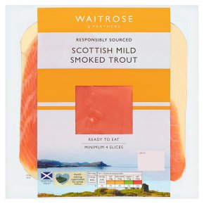 Waitrose oak smoked rainbow trout, 4 slices