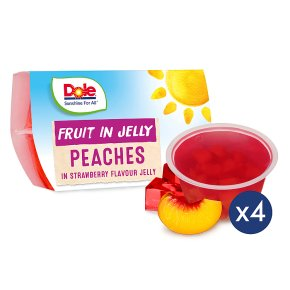 Dole Fruit in Jelly Peaches in Strawberry Jelly
