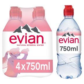 Evian action still mineral water