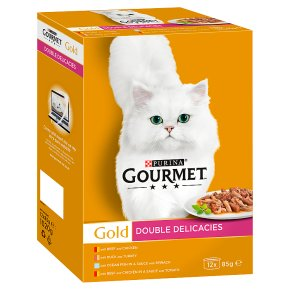 GOURMET Gold Adult Cat Double Delicacies Wet Food Can