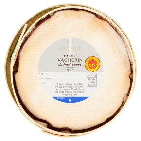Waitrose Badoz Vacherin Du Haut cheese, strength 6