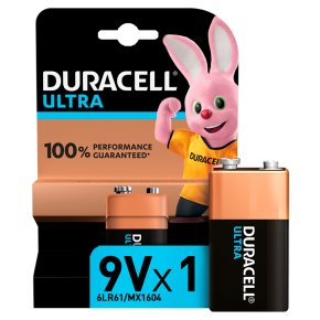Duracell Ultra Power 9V Batteries Alkaline
