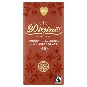 Divine Fairtrade milk chocolate