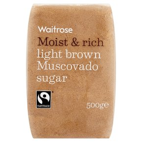 Waitrose light brown muscovado sugar