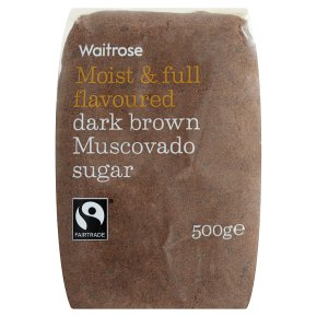 Waitrose dark brown muscovado sugar