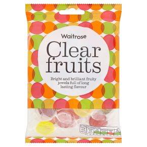 Waitrose clear fruits