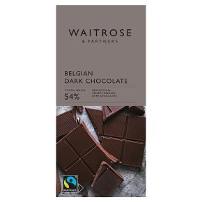 Waitrose Belgian Dark Chocolate 54%