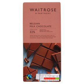 Waitrose Belgian chocolate milk
