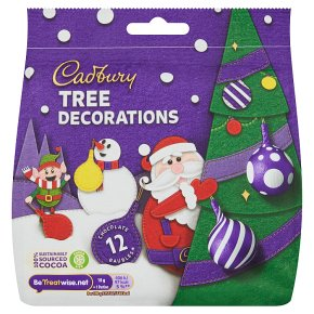 Cadbury Chocolate Parcel Tree Decorations