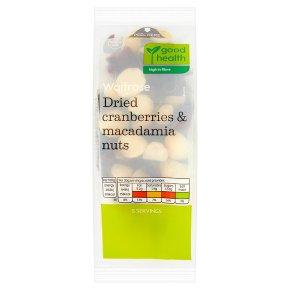 Waitrose Dried Cranberries & Macadamia Nuts