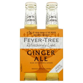 Fever-Tree Refreshingly Light Ginger Ale, 4 pack 4x200ml