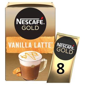 NESCAFÉ GOLD Vanilla  Latte Coffee, 8 sachets