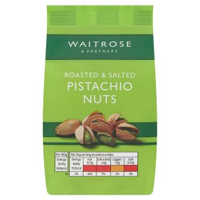 Waitrose roasted salted pistachio nuts