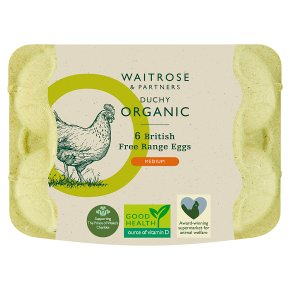 Waitrose Duchy Organic 6 medium free range eggs