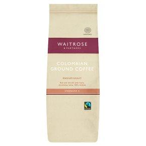 Waitrose Colombian Roast Ground Cafetiere Coffee