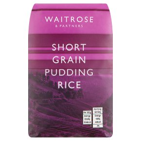 Waitrose Short Grain Pudding Rice