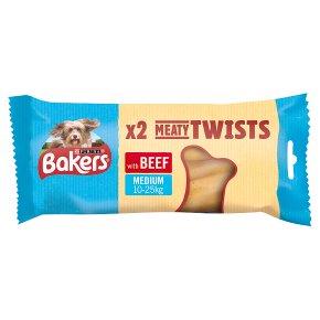 Bakers Meaty Twist Medium Dog Treats