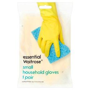 essential Waitrose household gloves small