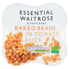essential Waitrose baked beans in tomato sauce, 4 pack
