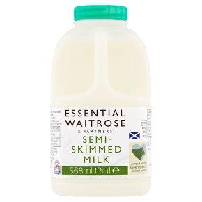 Waitrose semi skimmed Scottish milk