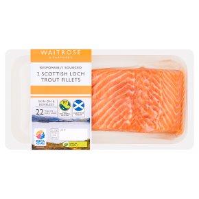 Waitrose 2 boneless Scottish loch trout fillets