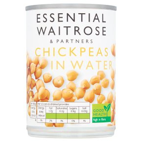 essential Waitrose canned chick peas in water