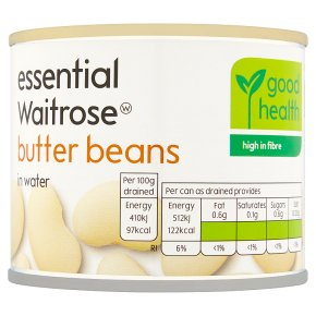 essential Waitrose Butter Beans in Water
