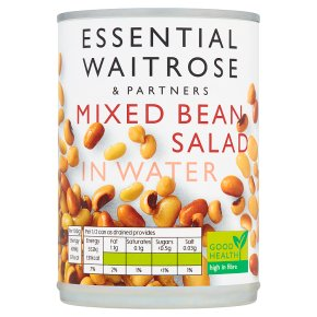 essential Waitrose Mixed Bean Salad in Water