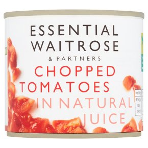 essential Waitrose tinned chopped tomatoes in natural juice