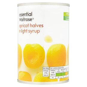 essential Waitrose Apricot Halves (in syrup)