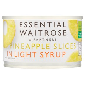 Essential Waitrose Pineapple Slices (in light syrup)
