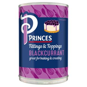 Princes blackcurrant fruit filling