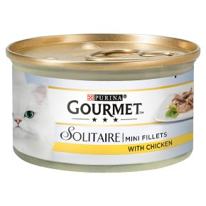 Gourmet Solitaire Tinned Cat Food With Chicken