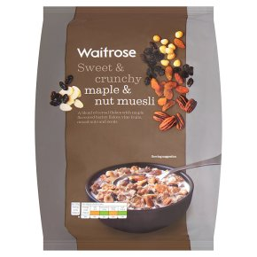 Waitrose maple triple nut muesli