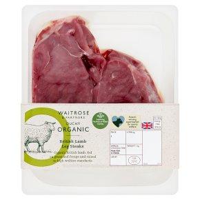 Waitrose Duchy Organic Welsh Lamb Leg Steaks