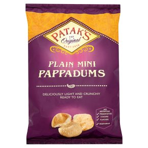 Patak's mini plain original pappadums