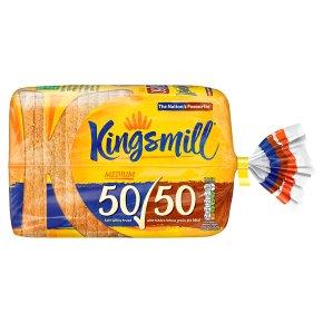 Kingsmill 50/50 white medium bread