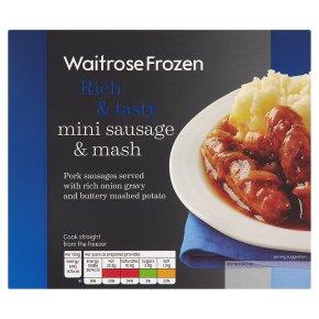 Waitrose mini sausage & mash