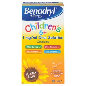 Benadryl children allergy solution