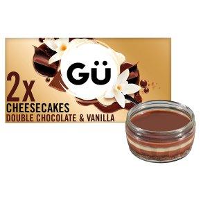 Gu 2 chocolate & vanilla cheesecakes
