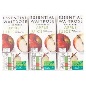 essential Waitrose pure apple juice, 6 pack